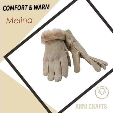 Melina Women Genuine Sheepskin Leather Gloves