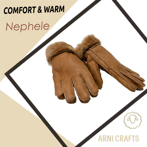 Nephele Women Genuine Sheepskin Gloves