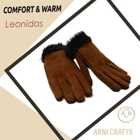 Leonidas Men Genuine Sheepskin Leather Gloves